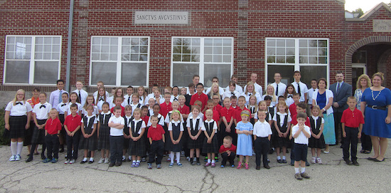 Students and Faculty of Saint Augustine School