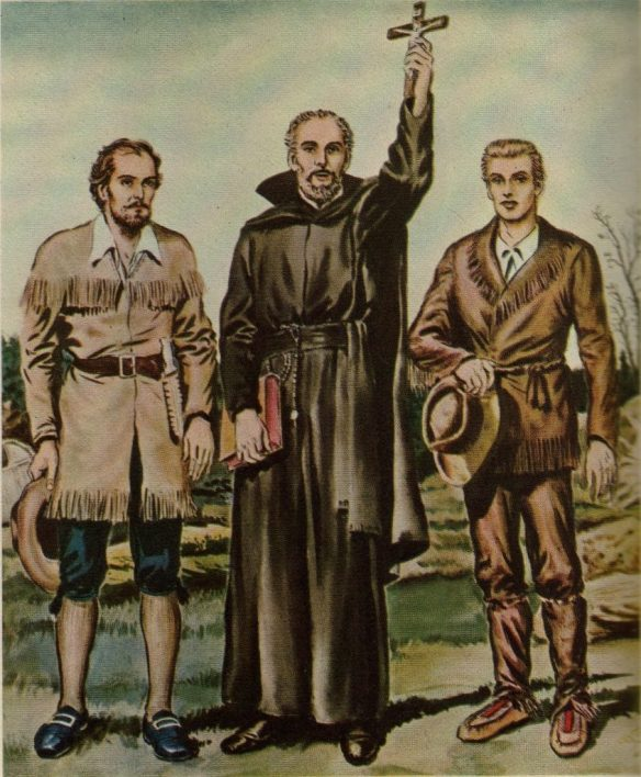 Saint Isaac Jogues, with two companions