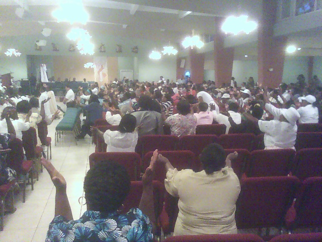 praise & worship with vocation monstrance @ Notre Dame Haitian Mission, Miami, FL