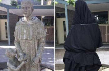 catholic school cover up statue australia