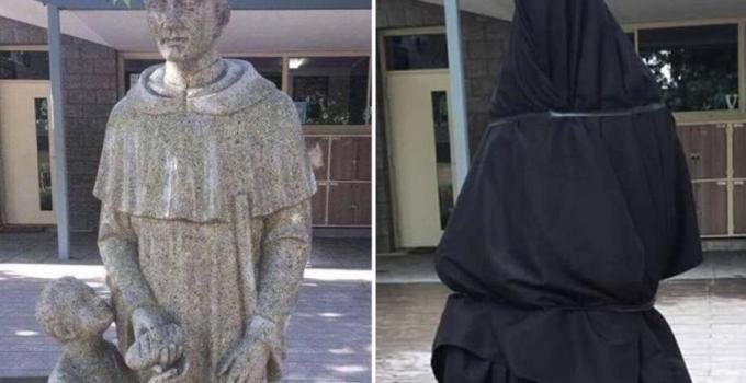 catholic school cover up statue australia