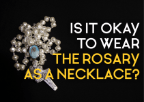 Rosary as a necklace