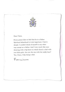 Letter from Pope Francis to Clara