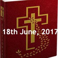 Sunday, June 18, 2017 - Solemnity of the Body and Blood of Christ, catholic meditation Sunday missal readings, catholic bible daily readings