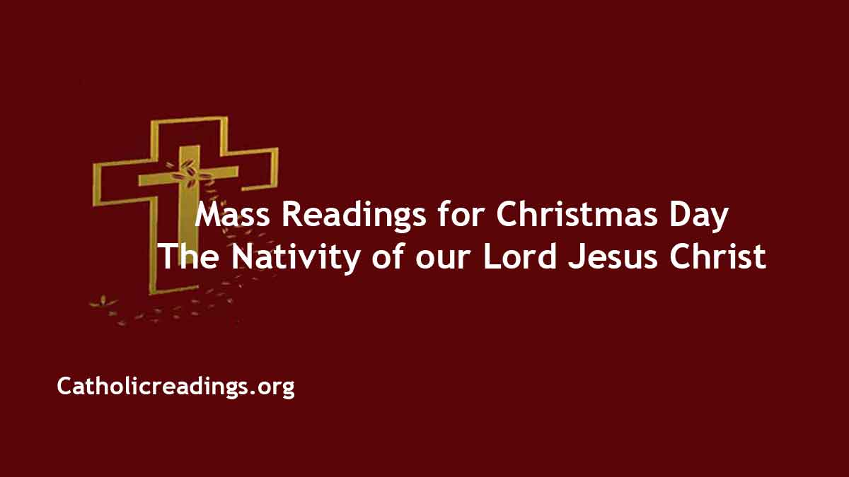 Christmas Midnight Mass Readings 2020 Christmas Eve Mass Readings   December 25 2020   Homily
