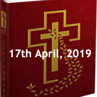 Catholic Daily Readings and Reflections for April 17 2019 – Wednesday of Holy Week – Year C