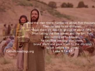 Jesus Feeds Five Thousand Men - Luke 9:14-17 - Bible Verse of the Day