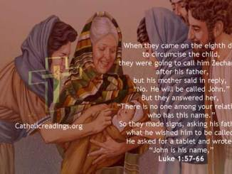He Will Be Called John - Luke 1:57-66 - Bible Verse of the Day