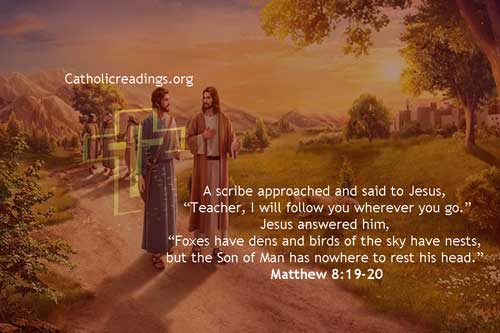 The Son of Man Has Nowhere to Rest his Head - Bible Verse of the Day