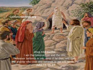 I am the resurrection and the life; whoever believes in me, even if he dies, will live - Bible Verse of the Day - John 11:25-27