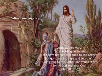 I am Going to My Father and Your Father - Bible Verse of the Day