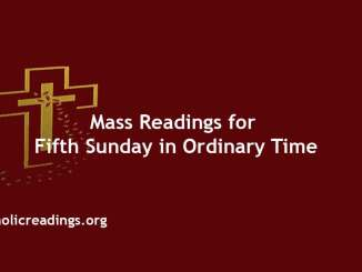 Catholic Mass Readings for Fifth Sunday in Ordinary Time