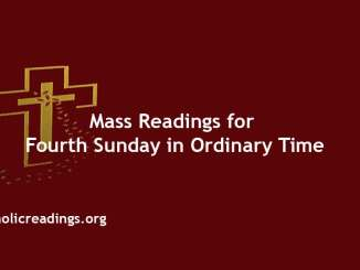 Catholic Mass Readings for Fourth Sunday in Ordinary Time
