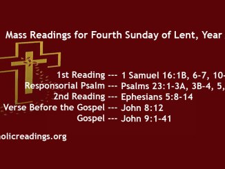 Fourth Sunday of Lent, Year A