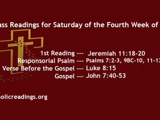Saturday of the Fourth Week of Lent