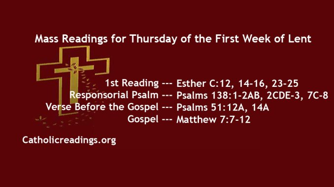 Thursday of the First Week of Lent