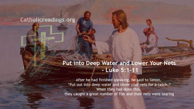 Put into Deep Water and Lower Your Nets - John 21:1-14, Luke 5:1-11 - Bible Verse of the Day