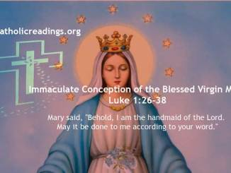 Immaculate Conception of the Blessed Virgin Mary - Luke 1:26-38 - Bible Verse of the Day