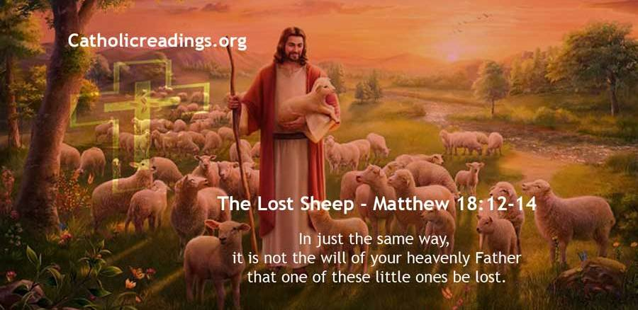 Parable of the Lost Sheep - Matthew 18:12-14, Luke 15:1-7 - Bible Verse of the Day
