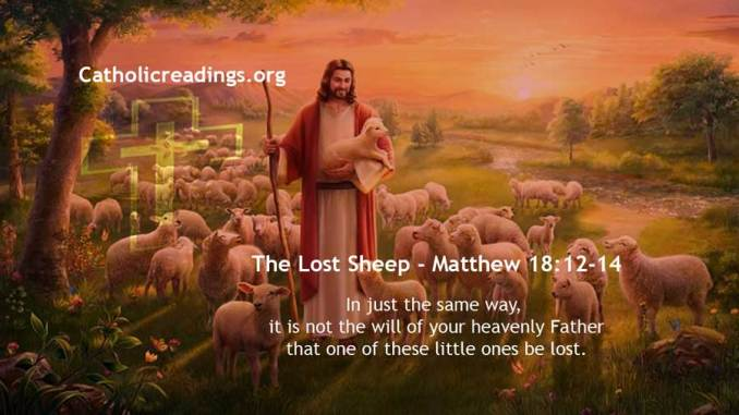 The Lost Sheep - Matthew 18:12-14 - Bible Verse of the Day