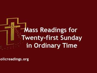 Mass Readings for Twenty-first Sunday in Ordinary Time