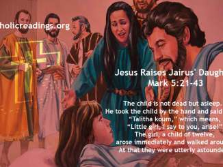 Jesus Raises Jairus' Daughter - Mark 5:21-43 - Bible Verse of the Day