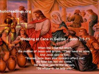 Wedding at Cana in Galilee - John 2:1-11 - Bible Verse of the Day