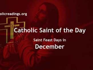 Catholic Saint Feast Days in December