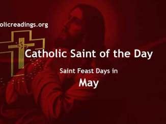 Catholic Saint Feast Days in May
