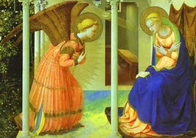 detail from 'Annunciation of the Blessed Virgin Mary' by Fra Angelico