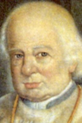 detail of a painting on Blessed Johann Nepomuk von Tschiderer, date unknown, artist unknown