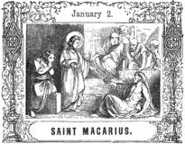 [Pictorial Half Hours with the Saints - Saint Macarius]