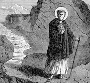 illustration of Saint Maximus, Bishop, from 'Pictorial Lives of the Saints'