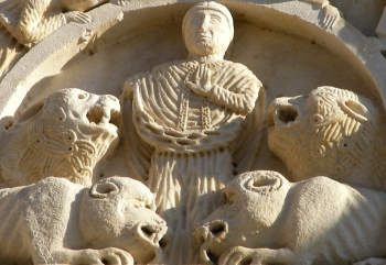 bas-relief of Saint Cerbonius of Populonia on the Cathedral of Massa Marittima, Tuscany, Italy; taken on 7 April 2006 by Ulrich Mayring; swiped off the Wikipedia web site