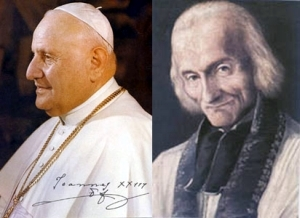 [Pope Blessed John XXIII and Saint John Vianney]