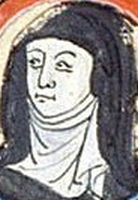 13th century illustration of Saint Edith of Wilton; swiped off the Wikipedia web site