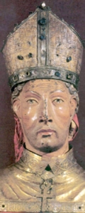 reliquary bust of Saint Prudentius of Tarazona, made in 1461