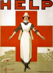 World War I recruiting poster for nurses