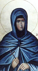photograph of an icon of Saint Angelina of Serbia, artist unknown; swiped off the Wikipedia web site