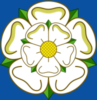 from the flag of Yorkshire, England