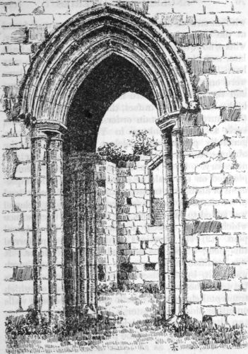 Mount Grave priory: tower-arches and nave from the northeast