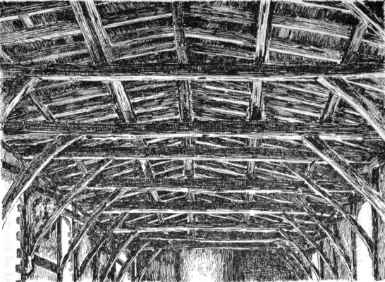 Durham: ceiling of corter, now the chapter library