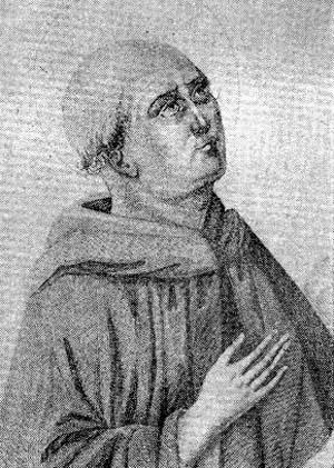 illustration of Blessed Bartolomé Aiutamicristo, date and artist unknown; swiped from Santi e Beati