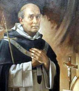 detail of a portrait of Saint Bartolomeu dei Martiri Fernandes, by Giuseppe Antonio Lomuscio; swiped off Wikimedia Commons