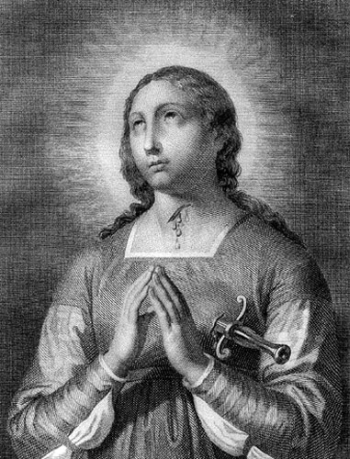 illustration of Blessed Camilla Gentili, date and artist unknown; swiped from Santi e Beati