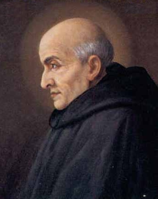 detail of a portrait of Blessed Clement of Osimo, date and artist unknown; swiped from Santi e Beati
