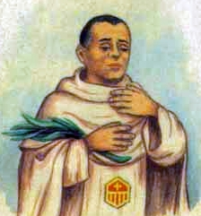 detail of an Italian holy card of Blessed Francesc Mitjá i Mitjá by Bertoni, date unknown; swiped from Santi e Beati