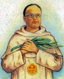 detail of an Italian holy card of Blessed Francisco Gargallo Gascón by Bertoni, date unknown; swiped from Santi e Beati