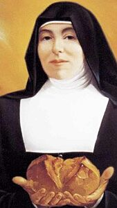 detail of the Vatican beatification portrait of Blessed Liduina Meneguzzi