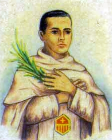 detail of an Italian holy card of Blessed Lorenzo Moreno Nicolás by Bertoni, date unknown; swiped from Santi e Beati
